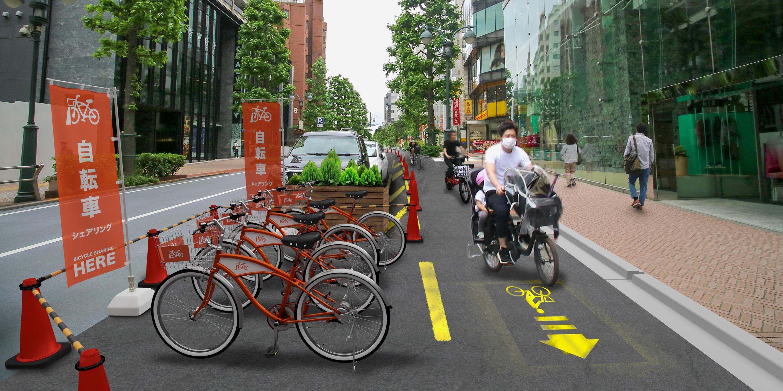 即席の自転車道のイメージ